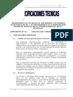 Especificaciones Tecnicas Capacitacion