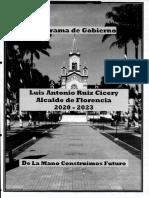 PLAN DE GOBIERNO LUIS ANTONIO RUIZ CICERI