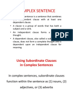 Complex Sentence (Theory)