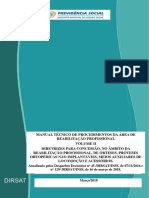 MANUAL TÉCNICO DE PROCEDIMENTOS DA ÁREA DE REABILITAÇÃO PROFISSIONAL