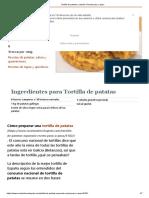 Tortilla de Patatas y Cebolla. Receta Paso a Paso