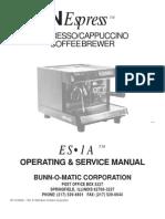 Bunn ES-1A Manual