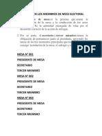 Funciones de Los Miembros de Mess Electoral_ Linaje