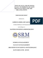 Integration of Lean and Six Sigma Methodology to Improve Quality Performance in -Converted