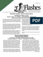 October 2010 Flicker Flashes Newsletter, Birmingham Audubon Society
