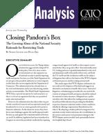 Closing Pandora's Box