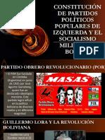 Constitución de Partidos Políticos Populares de Izquierda y Derecha Bolivia