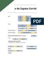 Hoja de Calculo Diseño de Zapata Corrida Bajo Muro