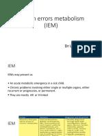 Inborn Errors Metabolism (IEM)