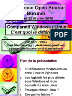 Comparatif Windows Linux