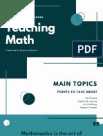 Bluegreen Math Education Presentation
