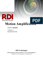 UserManual RDI MOtion Amplification