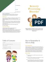 Sensory Processing Disorder Booklet