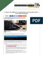 Como Recuperar Formatear Tarjeta Sd Microsd Danada 54444
