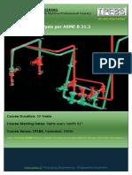 Pipe Stress Analysis Per ASME B 31.3