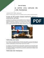 DIFERENCIA DE VANVULAS