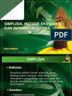 Simplisia, metode ekstraksi.pptx