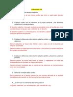 Cuestionario #8 de Introduccion Al Derecho