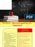 Physics 27 - Electrical Quantities 1 - Supplement