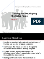 Chap 9 Tanner - Training & Developing the Sales Force 17022017