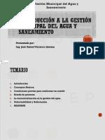 RIESGOS Y SANEAMIENTO DEL AGUA
