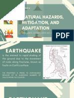 Natural Hazards Mitigation and Adaptation
