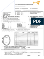 Child Dental Examination Form