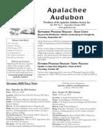 Sep-Oct 2010 Apalachee Audubon Society Newsletter