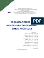 Trabajo III Unidad Organizacion de La Unesr Listo