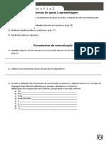 Fichas de Trabalho Nº 1 e 2 - Plataformas de Apoio à Aprendizagem e Ferramentas de Comunicação