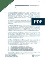 Section 01 Duties _ Responsibilities of a Welding Inspector