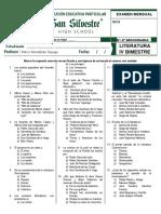 Exam IV Bim Lit 2 - 3 Sec