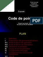 code de pointage