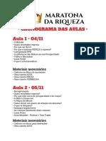 MDR Cronograma
