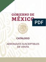 Catálogo de Aeronaves susceptibles de venta