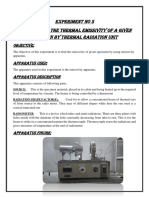 To Determine  the thermal Emissivity of a given Specimen by Thermal Radiation Unit.docx