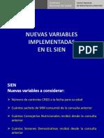 Variables Implementadas SIEN 2012