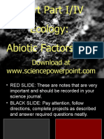 Ecology Abiotic Factors Unit Powerpoint Part I/IV for Educators - Download Powerpoint and unit at www. science powerpoint .com