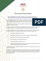 Visa de Residencia Temporal Estudiante - Julio 2019
