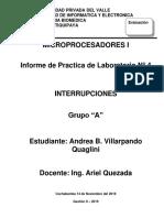 informe labo4 Interrupciones