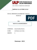 ENSAYO EL DESHEREDAMIENTO