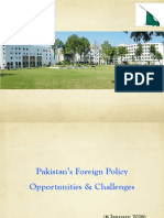 Issues of Foreign Policy of Pakistan - Foreign Secretary of Pakistan