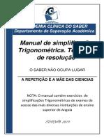 Simplificações Trigonometricas 2