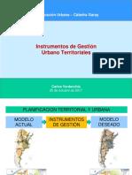 Instrumentos de Gestion Urbano Territoriales