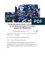'We Almost Pissed It Away' - An Oral History of Alex Burrows' Game 7 OT Winner Against the Blackhawks