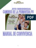 MANUAL de CONVIVENCIA Conjunto Caminos de Primavera Ph