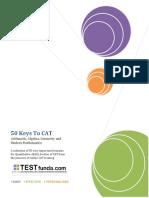 50 Keys to CAT From TestFunda.pdf