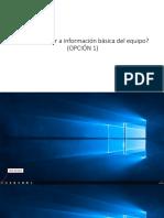 Cómo Capturar a Información Básica Del Equipo