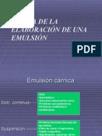 Teoria de la elaboracion de Emulsiones
