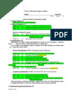 Section 5- Program of Study